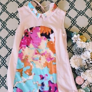 Multicolored pastel pink dress
